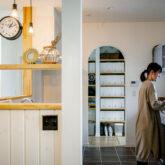 注文住宅 かっこいい工務店 熊本 ブレス 施工例46 アメリカン キッチン パントリー