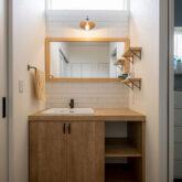 注文住宅 かっこいい工務店 熊本 ブレス 施工例46 アメリカン 洗面化粧台