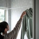 注文住宅 かっこいい工務店 熊本 ブレス 施工例46 アメリカン 室内 洗濯物干しスペース