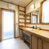 注文住宅 かっこいい工務店 福岡 不動産プラザ ブルースホーム小倉 施工例24 プロヴァンス 洗面室